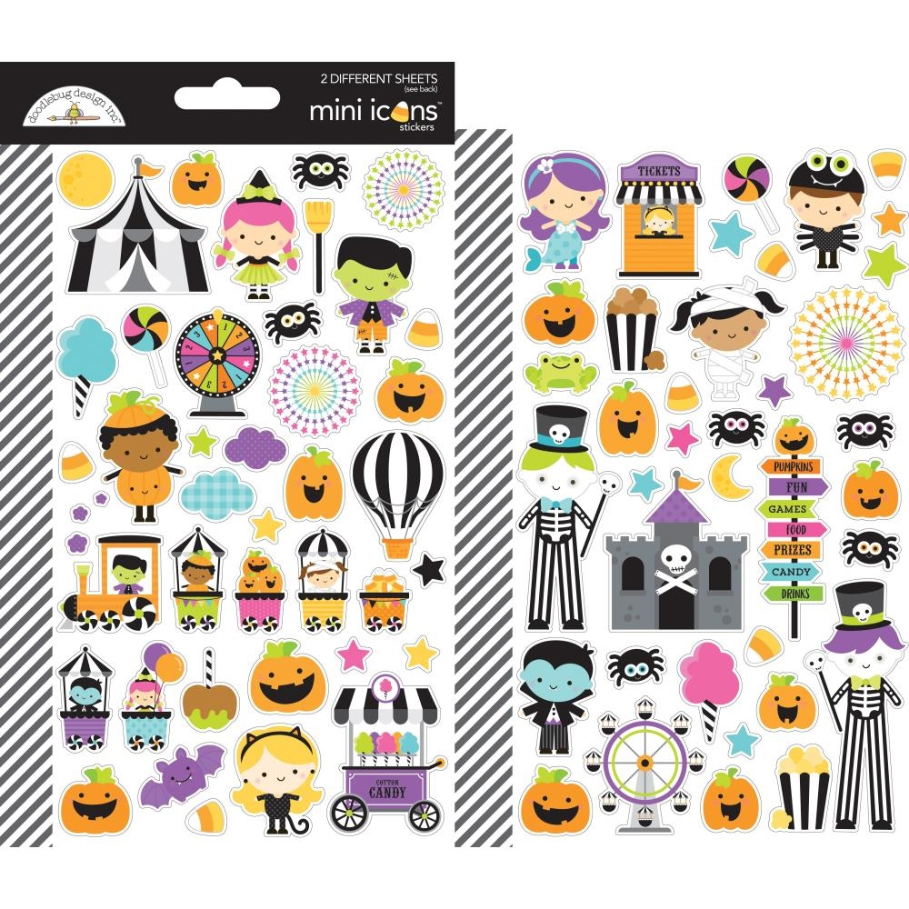Doodlebug CANDY CARNIVAL Mini Icons Cardstock Stickers 6470 zoom image