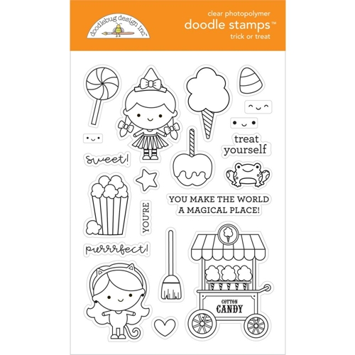 Doodlebug TRICK OR TREAT Clear Stamps 6473 Preview Image