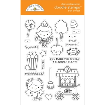 Doodlebug TRICK OR TREAT Clear Stamps 6473