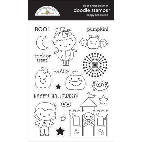 Doodlebug HAPPY HALLOWEEN Clear Stamps 6475 Preview Image