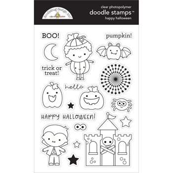Doodlebug HAPPY HALLOWEEN Clear Stamps 6475