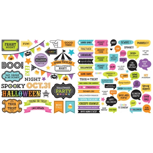 Doodlebug CANDY CARNIVAL CHIT CHAT Odds and Ends Die Cut Shapes 6525 Preview Image
