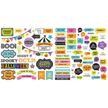 Doodlebug CANDY CARNIVAL CHIT CHAT Odds and Ends Die Cut Shapes 6525*