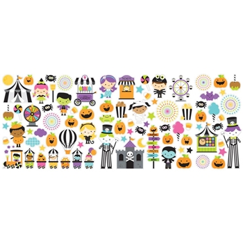 Doodlebug CANDY CARNIVAL ICONS Odds and Ends Die Cut Shapes 6524