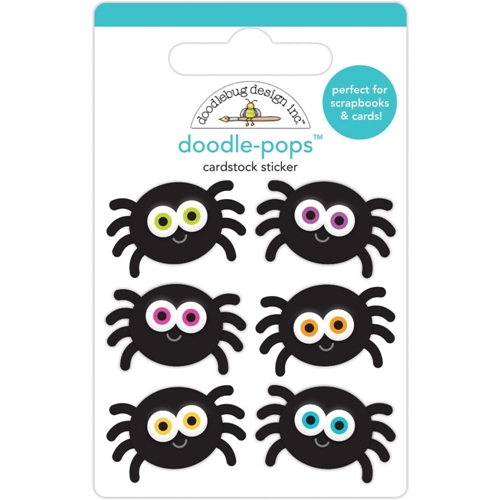 Doodlebug SILLY SPIDERS Doodle Pops 3D Stickers 6454 Preview Image