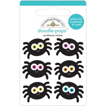 Doodlebug SILLY SPIDERS Doodle Pops 3D Stickers 6454