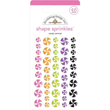 Doodlebug CANDY CARNIVAL Sprinkles Adhesive Glossy Shapes 6438