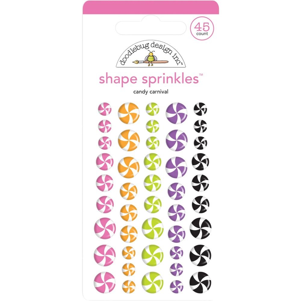 Doodlebug CANDY CARNIVAL Sprinkles Adhesive Glossy Shapes 6438 zoom image