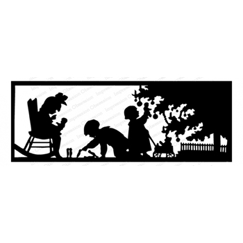Impression Obsession Cling Stamp CHRISTMAS SILHOUETTE G13832