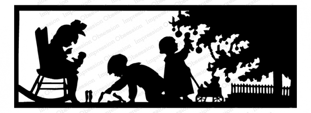Impression Obsession Cling Stamp CHRISTMAS SILHOUETTE G13832 zoom image