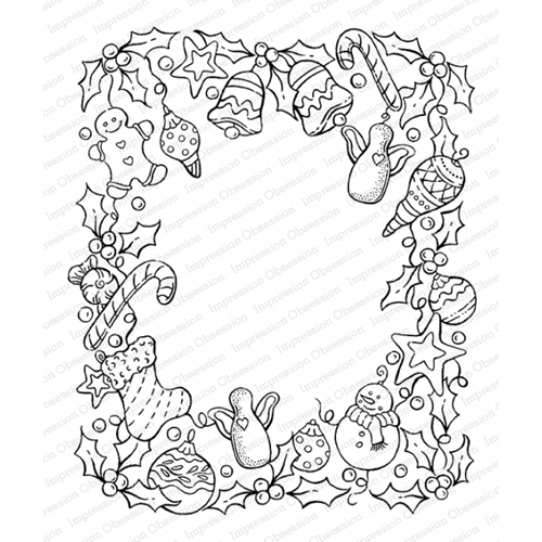 Impression Obsession Cling Stamp COUNTY FRAME K16473 Preview Image