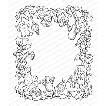 Impression Obsession Cling Stamp COUNTY FRAME K16473