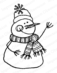 Impression Obsession Cling Stamp SNOWMAN C12093