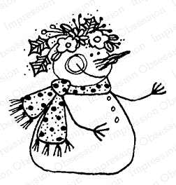 Impression Obsession Cling Stamp SNOW GIRL C12092