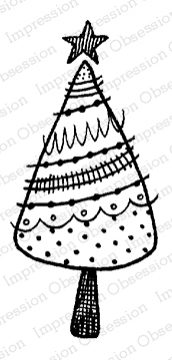 Impression Obsession Cling Stamp HOLIDAY TREE C12090 Preview Image