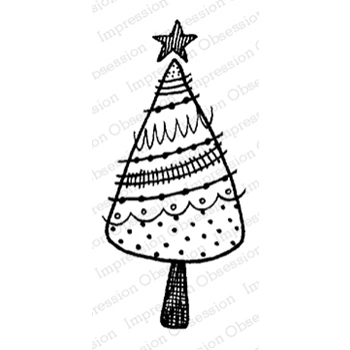 Impression Obsession Cling Stamp HOLIDAY TREE C12090*