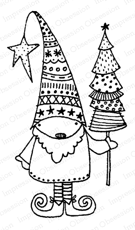 Impression Obsession Cling Stamp KRINGLE D12083 Preview Image