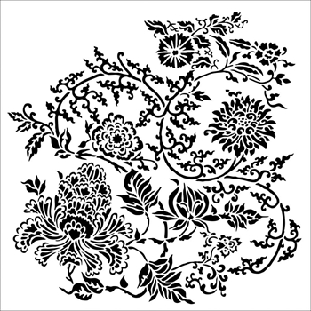 The Crafter's Workshop SMALL ASIAN FLORAL 6x6 tcw865s