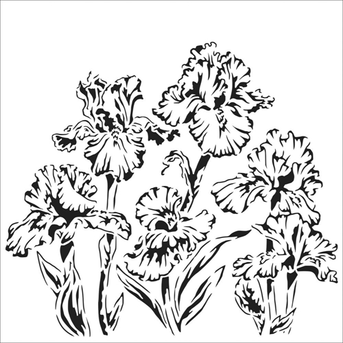 The Crafter's Workshop SMALL IRISES 6x6 tcw864s Preview Image