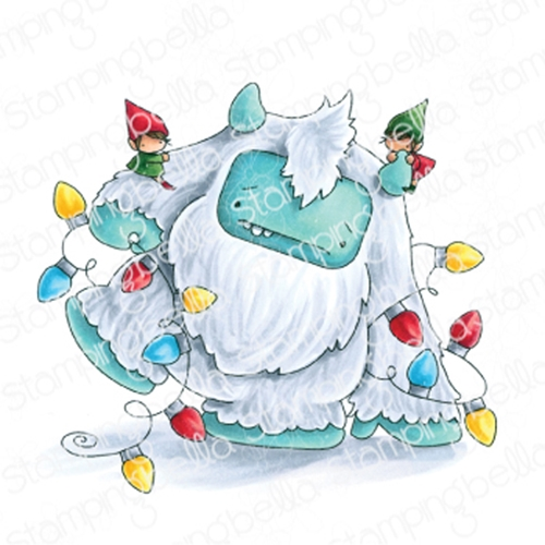 Stamping Bella Cling Stamp TANGLED YETI eb864 Preview Image