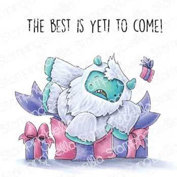 Stamping Bella Cling Stamp YETI ON A PREZZIE eb858