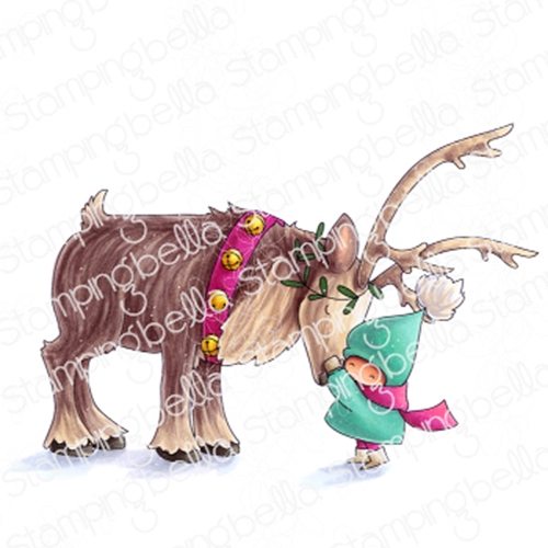 Stamping Bella Cling Stamp BUNDLE GIRL WITH REINDEER eb867 Preview Image