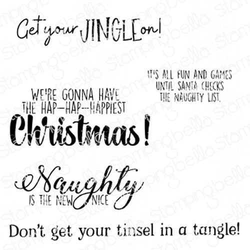 Stamping Bella Cling Stamp HOLIDAY FUN SENTIMENTS eb895 Preview Image