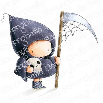 Stamping Bella Cling Stamp GRIM REAPER BUNDLE GIRL eb875