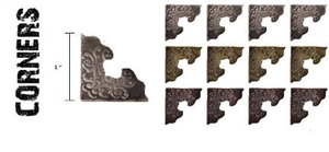 Tim Holtz Idea-ology CORNERS Metal Hardware  TH92789 zoom image