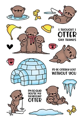LDRS Creative OTTERLY LOVABLE Clear Stamps 3170 zoom image