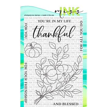 Miss Ink Stamps THANKFUL Clear Set 919st02