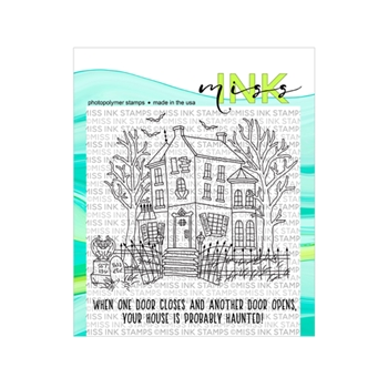Miss Ink Stamps HAUNTED HOUSE Clear Set 919st01