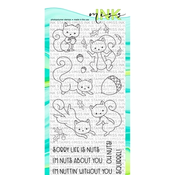 Miss Ink Stamps OH NUTS Clear Set 919st04