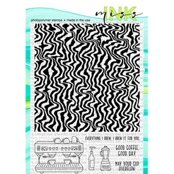 Miss Ink Stamps JITTERS BACKGROUND Clear Set 919bk01