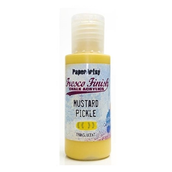Paper Artsy Fresco Finish MUSTARD PICKLE Chalk Acrylic Paint 1.69oz ff148