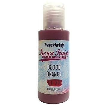 Paper Artsy Fresco Finish BLOOD ORANGE Chalk Acrylic Paint 1.69oz ff62