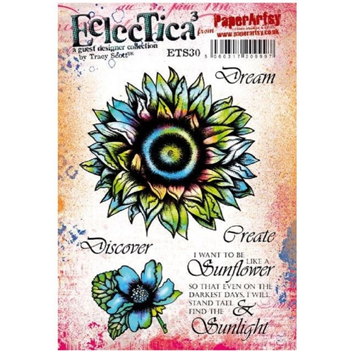 Paper Artsy ECLECTICA3 TRACY SCOTT 30 Cling Stamp ets30 Preview Image