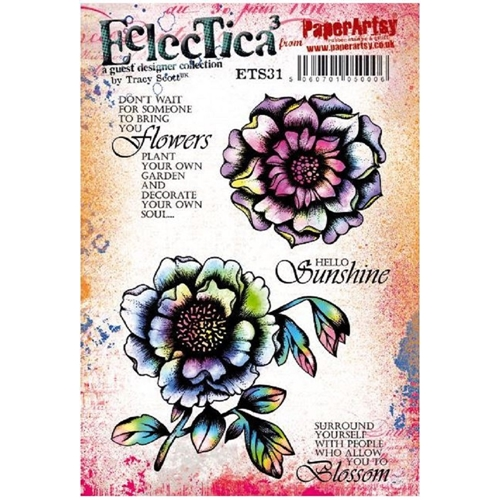 Paper Artsy ECLECTICA3 TRACY SCOTT 31 Cling Stamp ets31 Preview Image