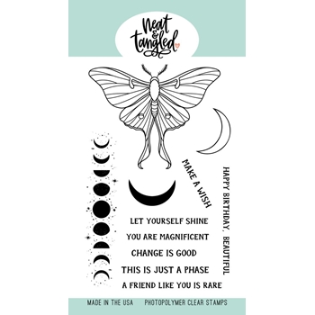 Neat and Tangled MOON MAGIC Clear Stamps NAT486