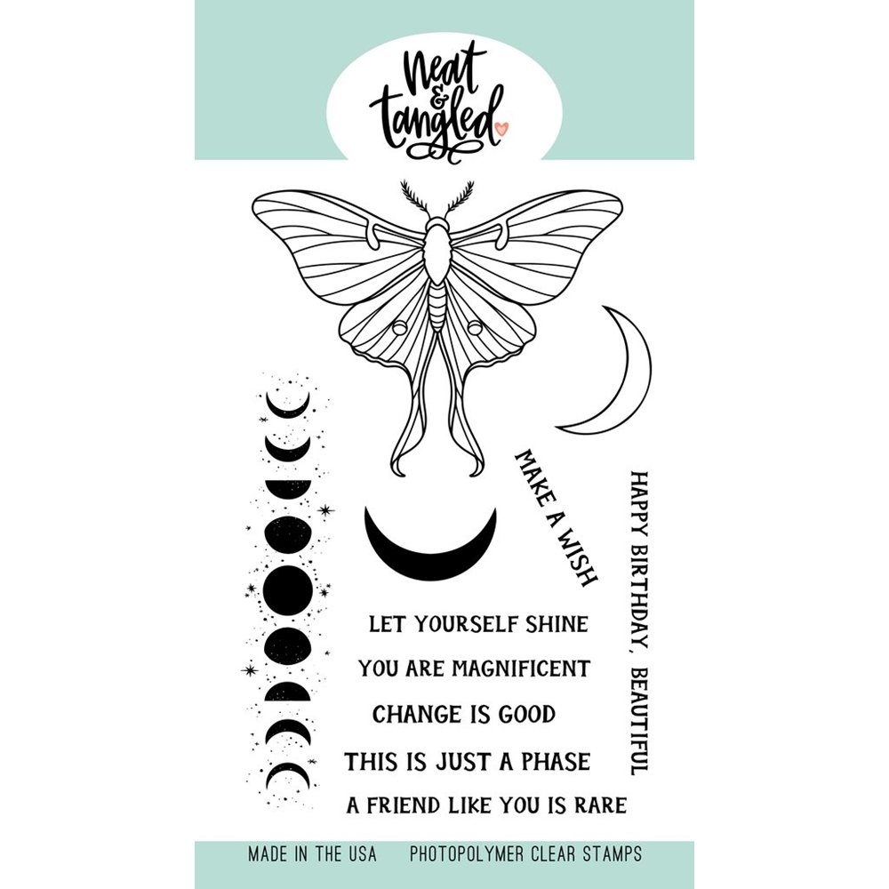 Neat and Tangled MOON MAGIC Clear Stamps NAT486 zoom image