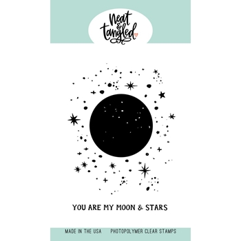 Neat and Tangled MOON AND STARS Clear Stamps NAT485