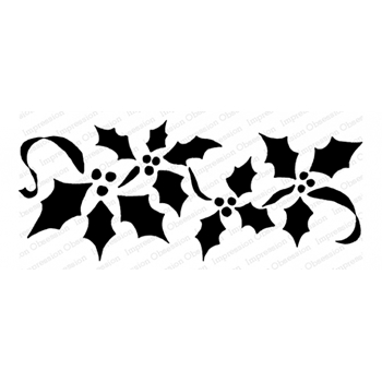 Impression Obsession Cling Stamp HOLLY SILHOUETTES E23048