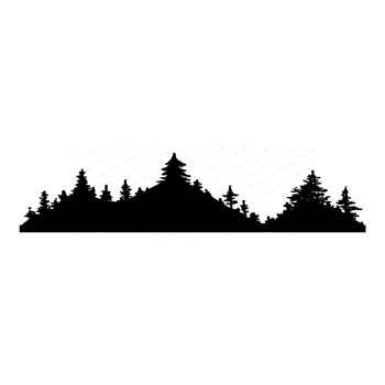 Impression Obsession Cling Stamp FOREST MOUNTAIN F23054