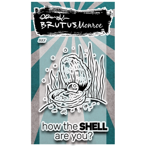 Brutus Monroe WHAT THE SHELL Clear Stamps bru0381 Preview Image