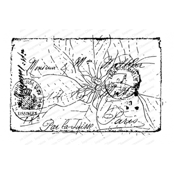 Impression Obsession Cling Stamp POINSETTIA COLLAGE L13809*