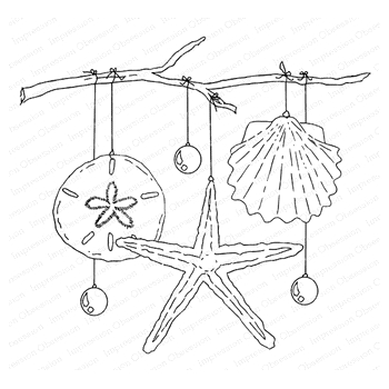 Impression Obsession Cling Stamp HOLIDAY HANGER H13822