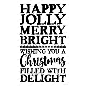 Impression Obsession Cling Stamp HAPPY JOLLY D14799