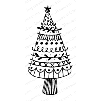 Impression Obsession Cling Stamp NORDIC TREE C12089