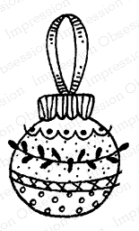 Impression Obsession Cling Stamp NORDIC ORNAMENT C12099