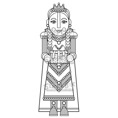 Stamplistic Cling Stamp COUNTESS CHESTNUT m190803 Preview Image